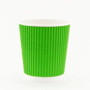 """Стаканчик гофрированный """"green gofra"""" 250 мл."""