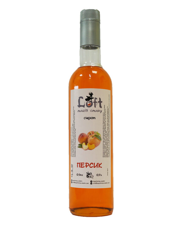 сироп лофт со вкусом персика
