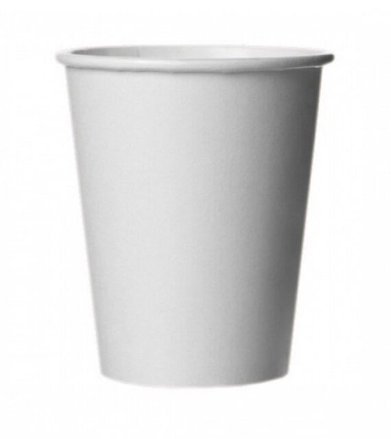Бумажный белый стакан 340 мл (ПЛОТНЫЙ)