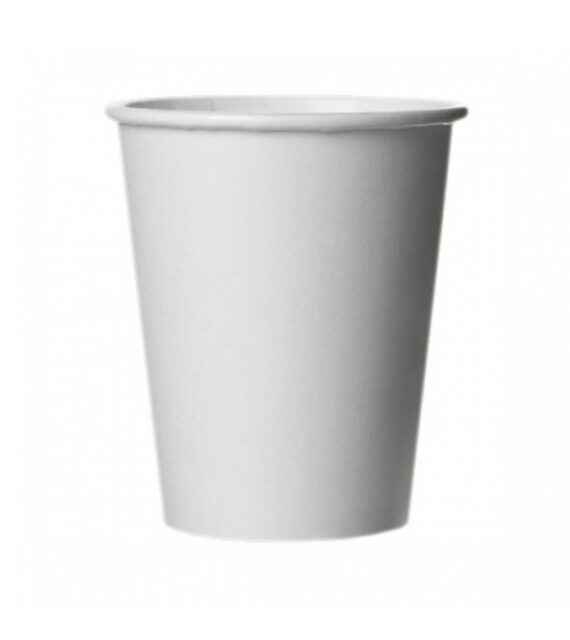 Бумажный белый стакан 250 мл (ПЛОТНЫЙ)