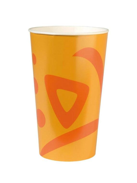 стаканчик бумажный цветной 320мл