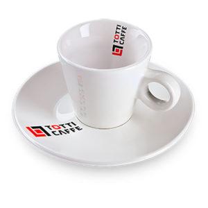 Чашка с блюдцем Totti Caffee