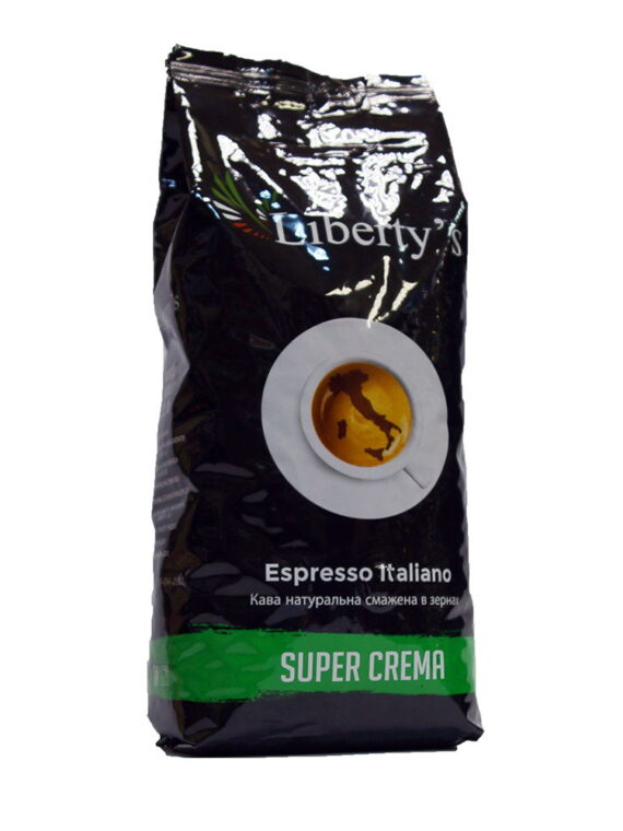 Кофе в зёрнах Liberty`s Super Crema 1 кг