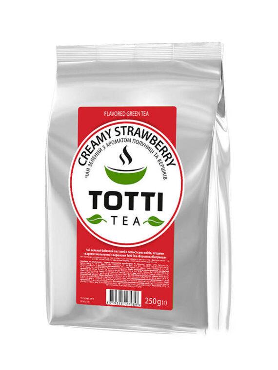 Чай Тотти Сливочная Клубника, 0,25 кг / уп.